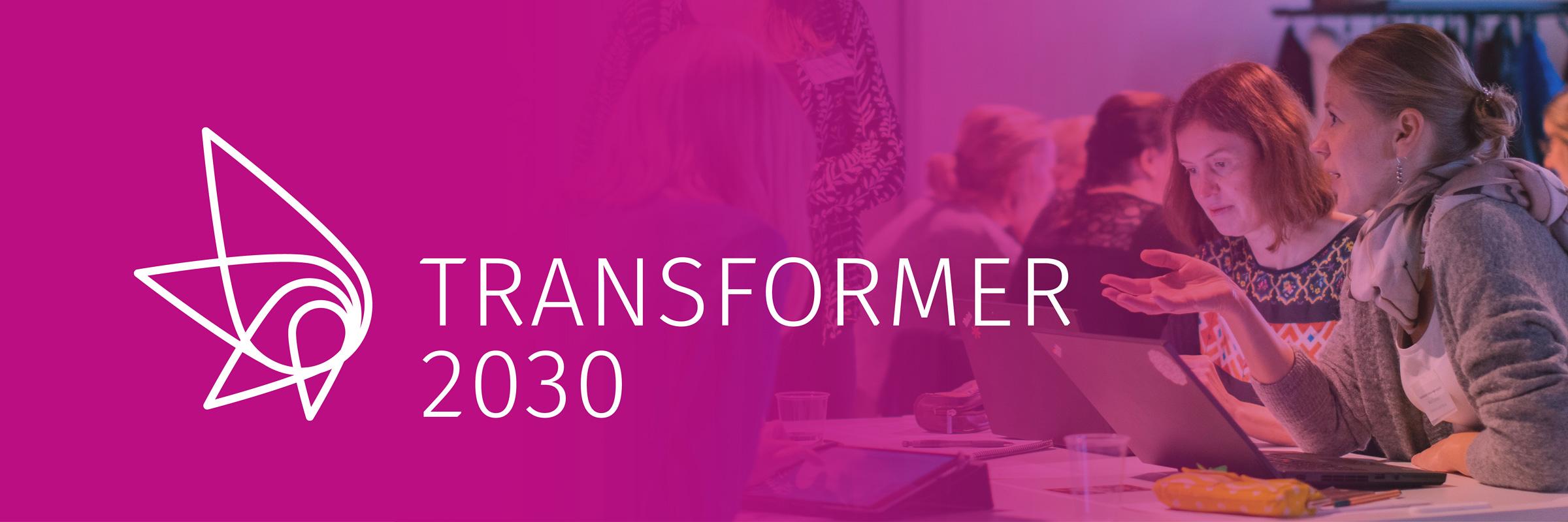 Transformer 2030 -hankkeen kuvituskuva, jossa logo.